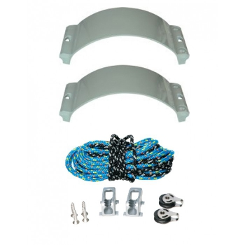 Achterliek-Trimmsystem Clamcleat Outhaul Kit Race Trimm Set - BIG