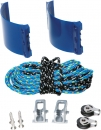 Achterliek-Trimmsystem Clamcleat Outhaul Kit Race Trimm Set